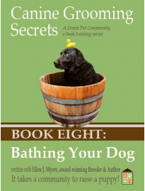 Washing your Dog ebook, Tools, training him to get into the bath.
